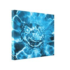 Digitally enhanced photo of splashing water makes this modern abstract picture look like a beautiful blue flower. A fabulous modern art canvas print suitable for home or office decor.