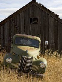 Rustic truck needs a home