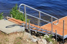 Photo Gallery: Aluminum Dock Stairs - Boat Docks Kayak Stand, Safety Gates For Stairs, Stone Retaining Wall, Retaining Walls, Platform Deck, Outdoor Stairs, Painted Stairs, Boat Dock, Under Stairs