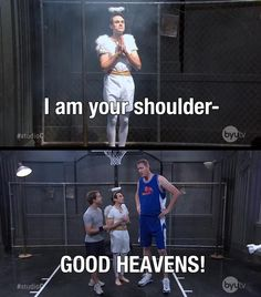 Studio C - Basketball Shoulder Angel... Best thing is that i met shawn bradley... He's so tall