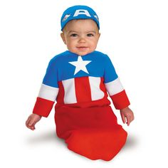 Captain America Bunting Infant Costume Size Months - - Includes bunting and cap. This is an officially licensed Captain America product.  sc 1 st  Pinterest & The 22 best Cute Infant Halloween Costumes images on Pinterest ...