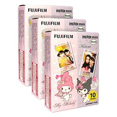 Fujifilm Instax Mini Melody and Kuromi 30 Film for Fuji 7s 8 25 50s 90 300 Instant Camera, Share SP-1 Printer