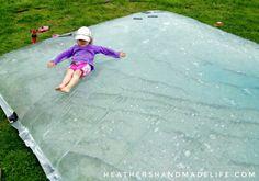 Make a backyard water blob {Heather's Handmade Life}
