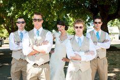 The groomsmen's attire