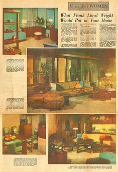 four and about women what franck lloyd wright would put in your home