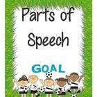 Looking for a parts of speech poster set with a soccer theme? This is the product for you! This poster set features the eight main parts of speech ...
