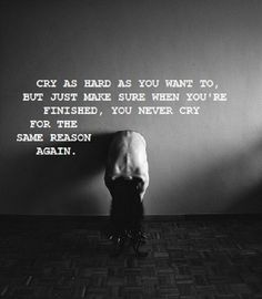 Never Cry For The Same Reason