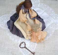 Vintage Nan's Corn Husk Doll Rachel's Child by SecretGardenHerbs, $25.00