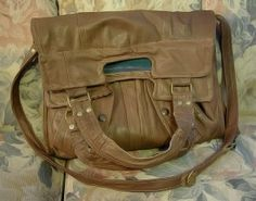 DIY Leather Bag from leather jacket...