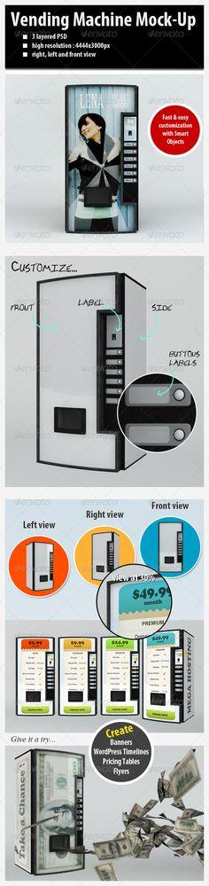 Customizable Vending Machine MockUp — Photoshop PSD #soda #timeline • Available here → https://graphicriver.net/item/customizable-vending-machine-mockup/2248241?ref=pxcr