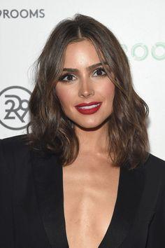 Olivia Culpo Red Lipstick - Makeup Lookbook - StyleBistro