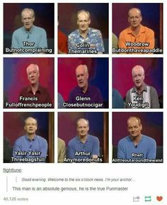 Whose Line is it Anyways is an iconic show and everybody needs to watch jt Funny Cute, The Funny, Hilarious, Tumblr Funny, Funny Memes, Whose Line, Lol, Ms Gs, Funny Posts
