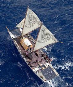 Hikianalia Sets Sail for Hawaii – Hōkūle'a's Sister Vessel Will Be Important Part of Worldwide Voyage Sailing Catamaran, Sailing Ships, Mud Boats, Sailboat Art, Outrigger Canoe, Boat Design, Set Sail, Small Boats, Boat Plans