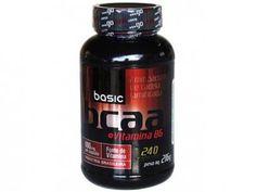 BCAA 2:1:1 + Vitamina B6 240 Cápsulas - Basic Nutrition com as melhores condições você encontra no Magazine Bitstore. Confira!