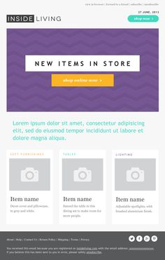 Boxi – HTML Email Template HTML email marketing design   Beautiful ...