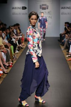e3f21c652367d Sayantan Sarkar showcased a high-end line of evening wear christened  A  Motley Love  at Jabong Stage during Lakmé Fashion Week Summer Resort
