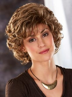 2018 New Style Wavy Look With Textured Synthetic Wig, Buy Wigs Short Hair With Layers, Short Wavy, Short Curly Hair, Wavy Hair, Short Hair Cuts, Blonde Hair, Medium Hair Styles, Curly Hair Styles, Human Lace Wigs