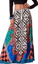 Flying Tomato Womens Tribal Print Full Length Long Boho Maxi Skirt