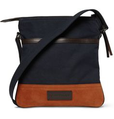 Burberry Shoes & AccessoriesSuede and Canvas Messenger Bag|MR PORTER
