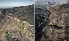 US-Mexico border photographed in stunning images that present problems for Donald Trump's wall | Daily Mail Online