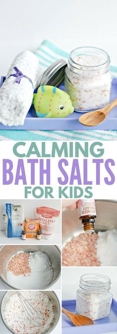 Homemade easy calming bath salts for kids is a great way to relax your children (and you!) before bedtime. With essential oils and Epsom salts, it& perfect for winding down after a busy day. Diy Bath Salts With Essential Oils, Homemade Essential Oils, Essential Oils For Colds, Essential Oil Bath Bombs, Best Bath Salts, Diy Bath Salts Easy, Homemade Bath Salts, Epsom Salt Bath, Bath Salts Recipe