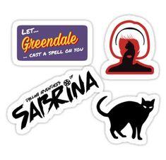 Chilling Adventures of Sabrina Sticker Tumblr Stickers, Phone Stickers, Diy Stickers, Printable Stickers, Sabrina Spellman, Aesthetic Stickers, Cute Illustration, Sticker Design, Vinyl Decals