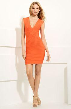 If I could, I would! --> Herve Leger Double V Neck Dress
