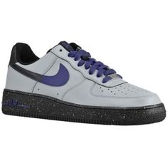Nike Air Force 1 Low - Men's - Basketball - Shoes - Wolf Grey/Court Purple