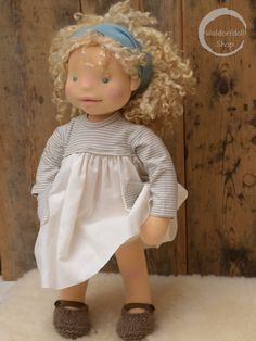 "https://flic.kr/p/YLJ9p3 | 20"" Natural Fibre Art Doll by Waldorfdollshop OOAK, Emily 