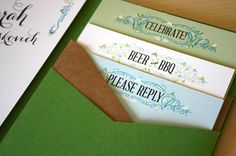 Oh So Beautiful Paper: Sarah + Chase's Texas Garden Party Wedding Invitations