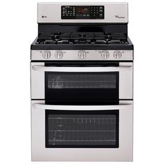 LG Double Oven Gas Range 6.1 cu. ft. LDG3036ST with EasyClean in Stainless Steel - My next oven