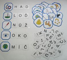 Skládání slov 1 K 1, Montessori, Literacy, Notes, Teacher, Education, Speech Language Therapy, Autism, Report Cards