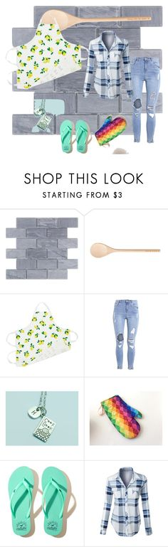 """""""Kitchen look (contest)"""" by people-are-annoying ❤ liked on Polyvore featuring Lick the Spoon, Kate Spade, Hollister Co., LE3NO and kitchen"""