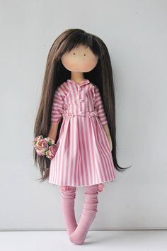 Textile doll Rag doll Tilda doll Fabric doll Muñecas Pink doll Birthday doll Handmade doll Interior doll Art doll Cloth doll by Olesya N __________________________________________________________________________________________ Hello, dear visitors! This is handmade textile doll created by Master Olesya N. (Russia). All dolls stated on the photo are mady by artist Olesya N. You can find them in our shop searching by artist name: https://www.etsy.com/shop/AnnKirillartPla... Pink Doll, Hello Dear, Fabric Dolls, Puppets, Vanilla, Art Dolls, Russia, Doll Clothes, Boy Doll