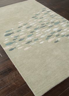 Coastal Living Collection - Schooled Sea Blue hand tufted wool rug.  So luxurious!