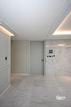 거실 바닥 벽 대리석 시공된 청주 복대동 금호 어울림 2단지 아파트 인테리어 안녕하세요 홈데코 인테리어...