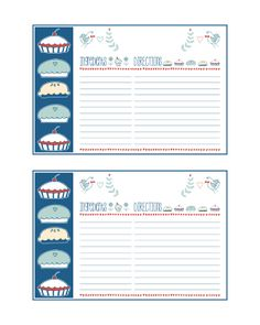 The Cottage Market: Free Printable Recipe Cards