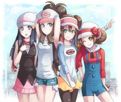 pokemon girls xD by majigoma on DeviantArt