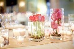 tischdeko #18 - pinke tulpen / table decoration - pink tulips