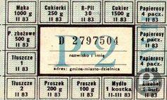 Kartki – W czasach powszechnych braków były swoista kartą przetargową dokonywanych transakcji.