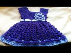 Tutorial Vestido Niña Crochet Tejido Junto Laura Cepeda - YouTube