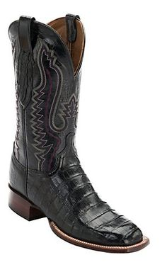 Lucchese® Cowboy Collection™ Mens Black Croc Belly Exotic Square Toe Boots | Cavenders Boot City