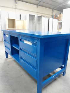 Workbench with Steel Top