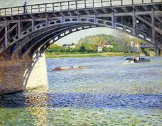 Gustave Caillebotte (1848-1894)  The Argenteuil Bridge and the Seine  Oil on canvas  c1883