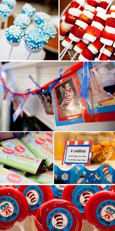 Cat in The Hat Party!!  #Obsessed birthday-party-ideas