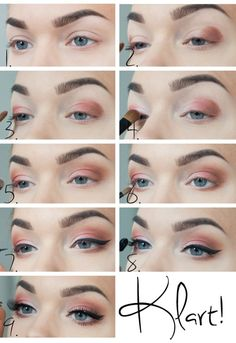 """This is the tutorial for the look """"Graduation"""" by Linda Hallberg ...Paired with a orange-red lip MUG eyeshadows used in Cocoa Bear, Mango T..."""