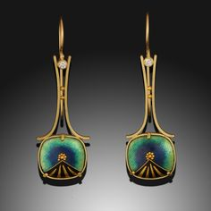 Belle Epoch Earrings by Amy Roper Lyons, Cloisonne Enamel