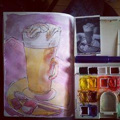 Photo by grahamwarsap Insta Art, Watercolor, Tote Bag, Instagram Posts, Bags, Painting, Pen And Wash, Handbags, Watercolor Painting