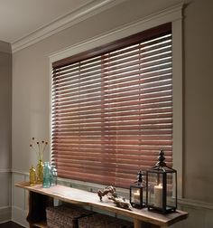 """2 1/2"""" Estate Wood Blind shown in color Colonial Mahogany"""