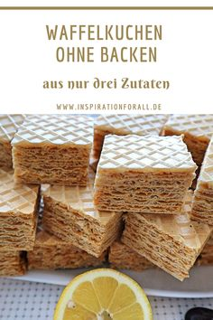 Waffelkuchen – einfaches & schnelles Rezept für Kuchen ohne Backen Torta di cialde russa senza cottura per bambini e adulti Easy Smoothie Recipes, Quick Recipes, Brunch Recipes, Dessert Recipes, Torte Au Chocolat, Waffle Cake, Fast Easy Meals, Pumpkin Spice Cupcakes, Food Cakes